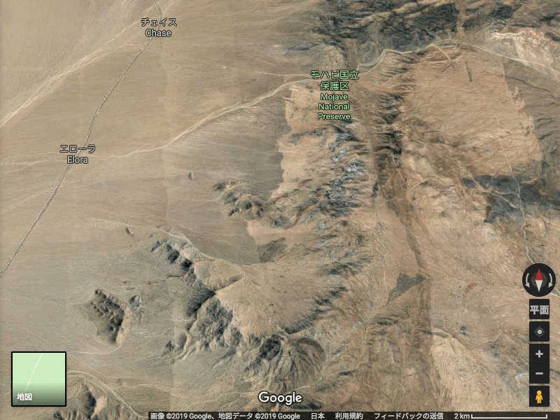 Googlemap Mojave砂漠