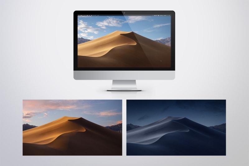 Mojave デスクトップの様子